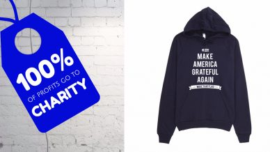 """Make America Grateful Again"" Tees & Hoodies – 100% Profits Donated to Hurricane Relief"