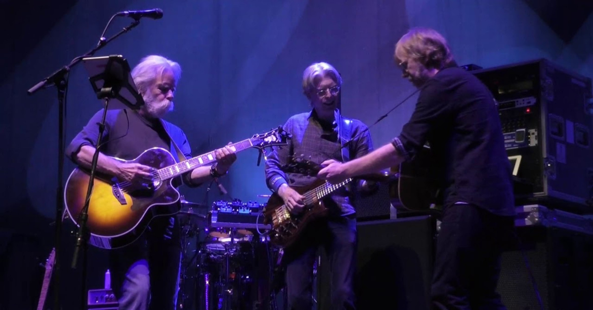 Update Watch Bob Weir Phil Lesh And Trey Anastasios Epic Second